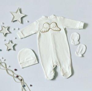 Pajac white angel dla dziewczynki 56-92 cm