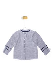 Szary sweterek z kokardkami