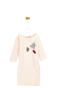 Różowa sukienka A