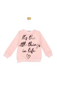 Różowa bluza z perłami