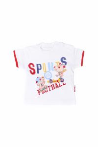 Bluzeczka z krótkim rękawkiem - football