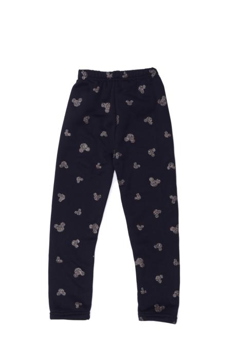 Czarne spodnie z myszką Micky