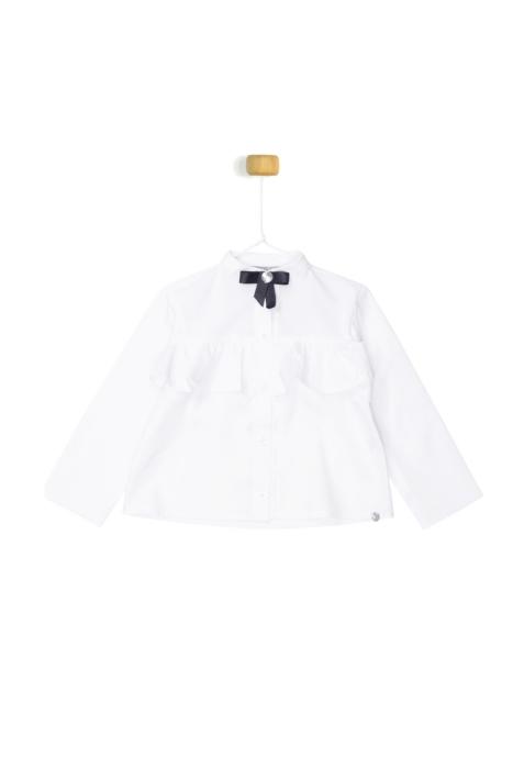 Biała koszula - kokardka