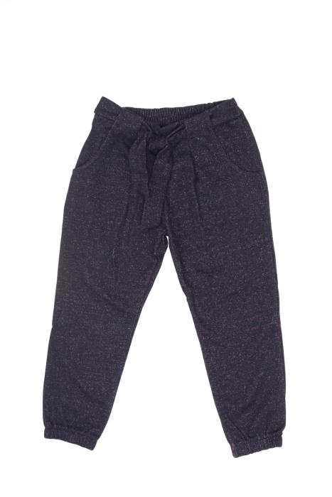 Czarne spodnie z kokardką