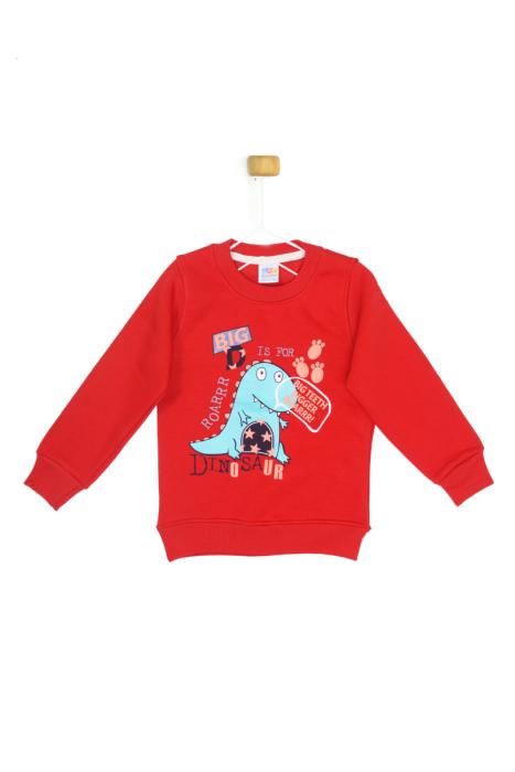 Czerwona bluza DINOSAUR