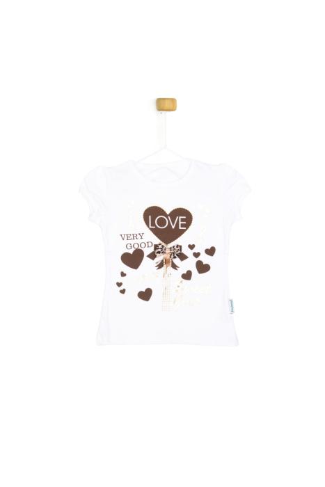 Bluzeczka z krótkim rękawkiem - love