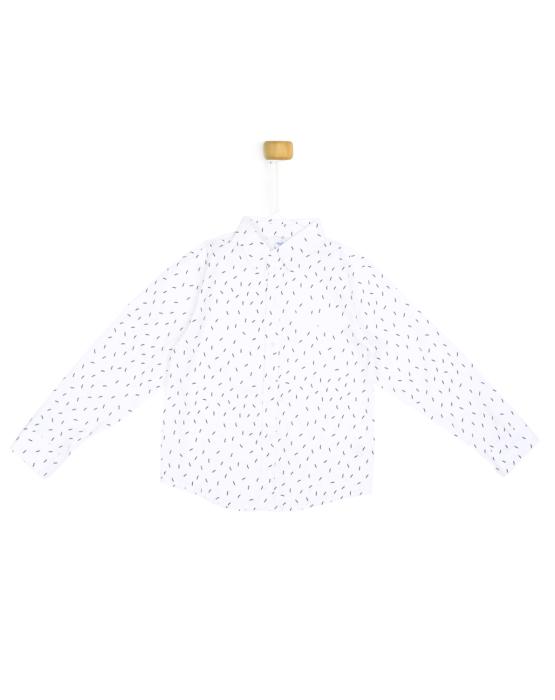 Biała koszula z wąsem