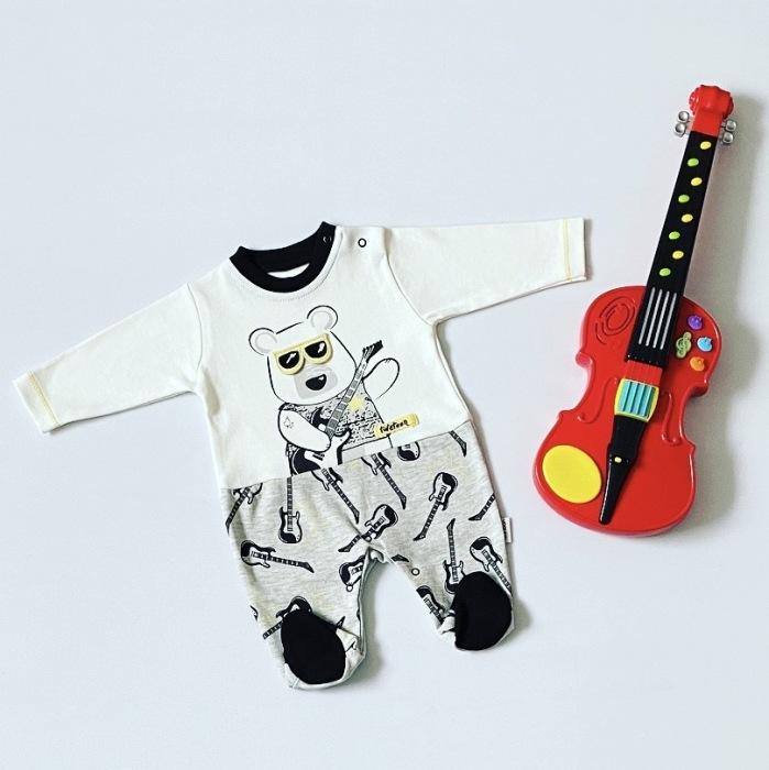 Pajac z gitarą dla chłopczyka 56-92 cm
