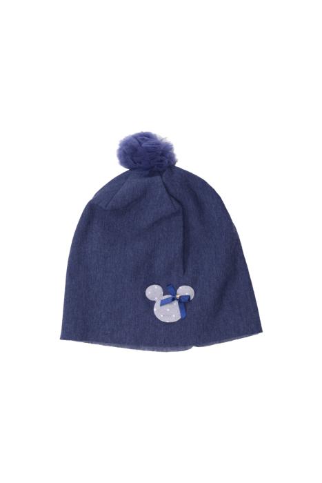 Granatowa czapka z myszką