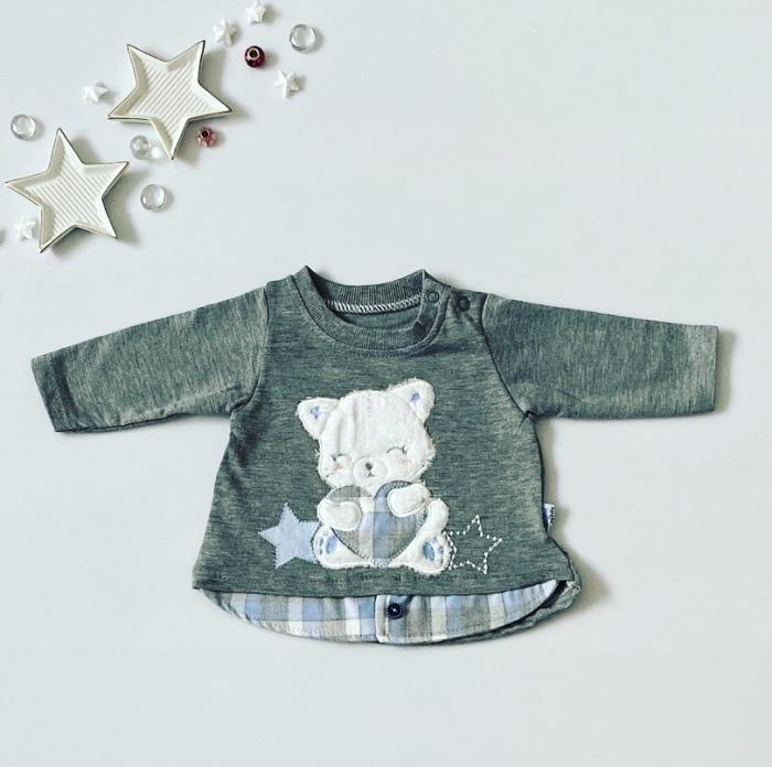 Bluzka gwiazdka z długim rękawem dla dziewczynki 56-92 cm