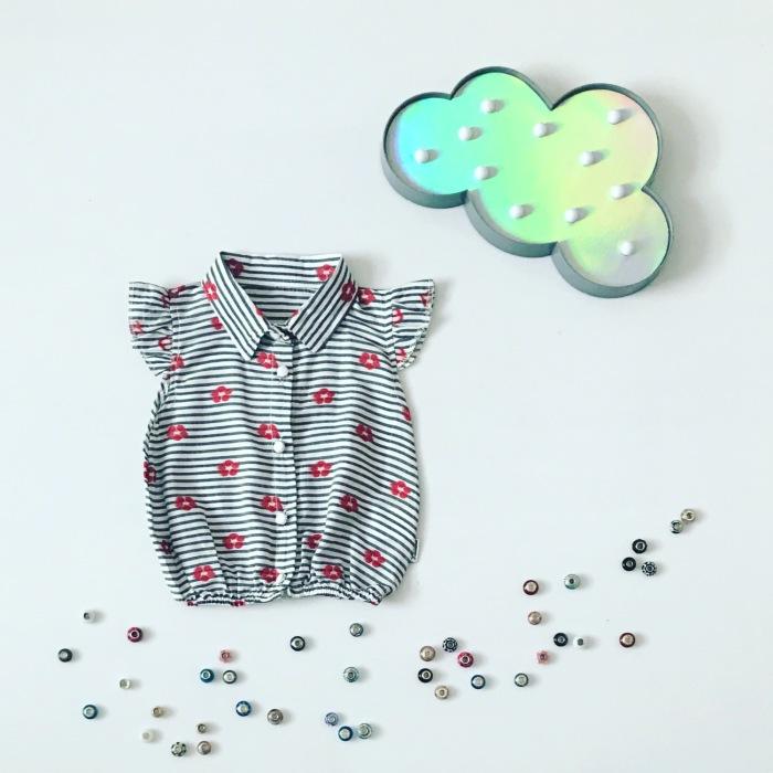 Bluzka z falbanką z krótkim rękawem dla dziewczynki 56-92 cm