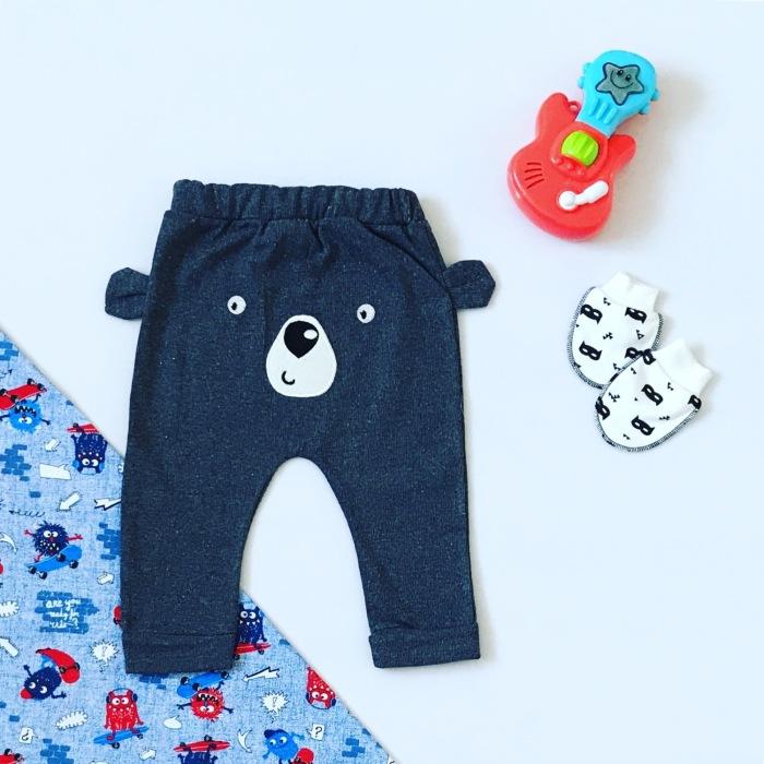 Spodnie szary miś dla chłopczyka 56-92 cm