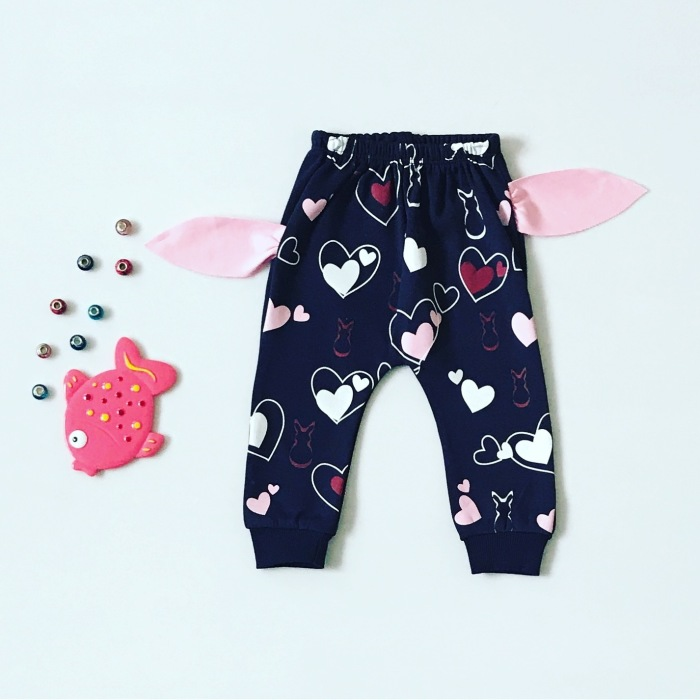 Spodnie rabbit dla dziewczynki 56-92 cm