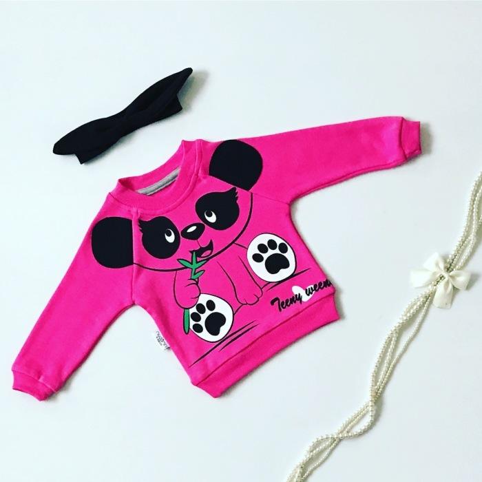 Bluza panda dla dziewczynki 56-92 cm