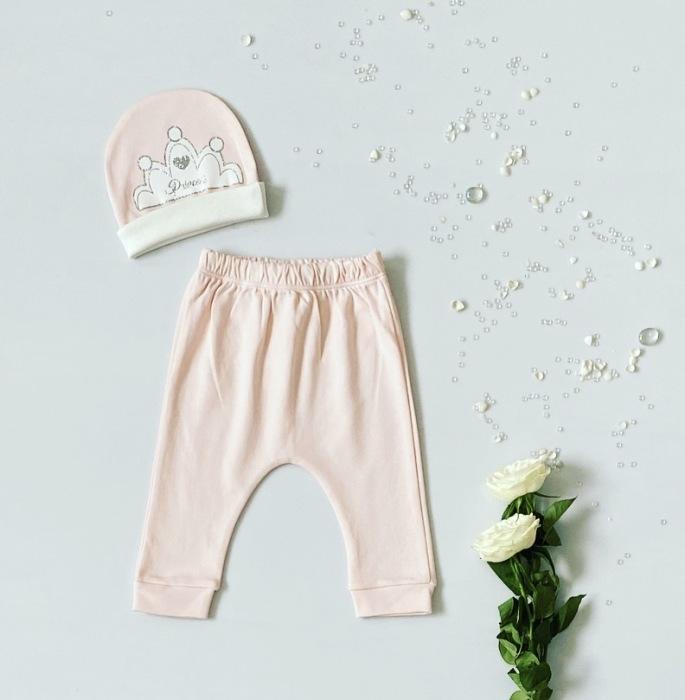 Spodnie princess + czapeczka dla dziewczynki 56-92 cm