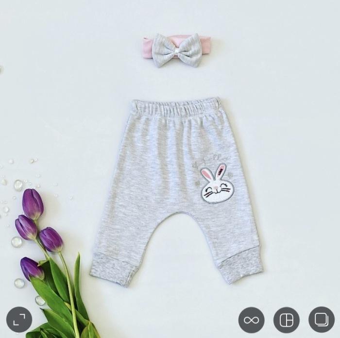 Spodnie hello + opaska dla dziewczynki 56-92 cm