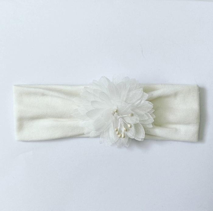 Opaska white flower dla dziewczynki