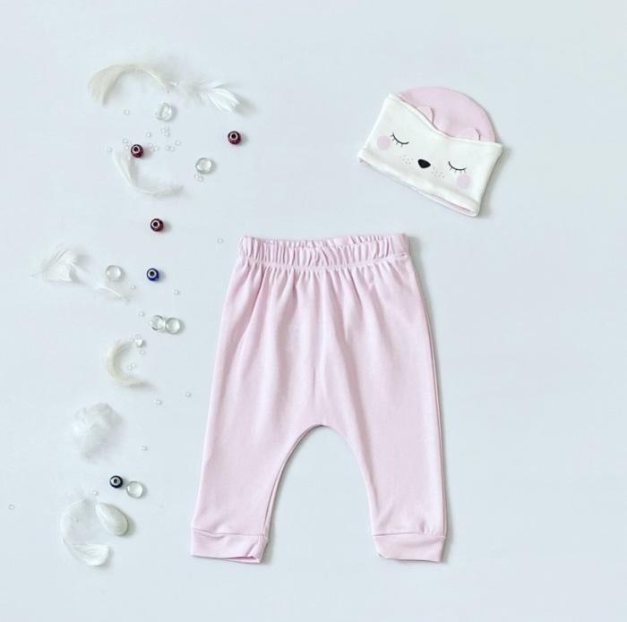 Spodnie bunia + czapeczka dla dziewczynki 56-92 cm