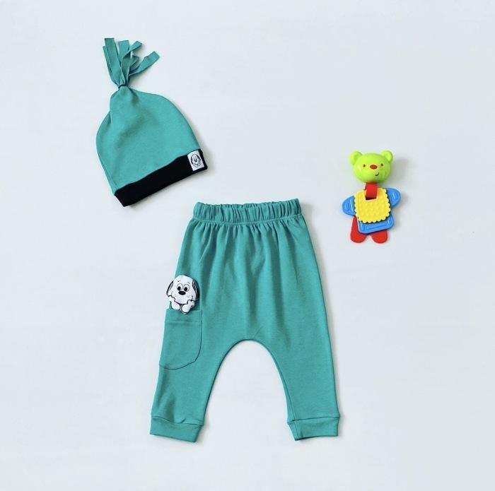 Spodnie puppy + czapka dla chłopczyka 56-92 cm