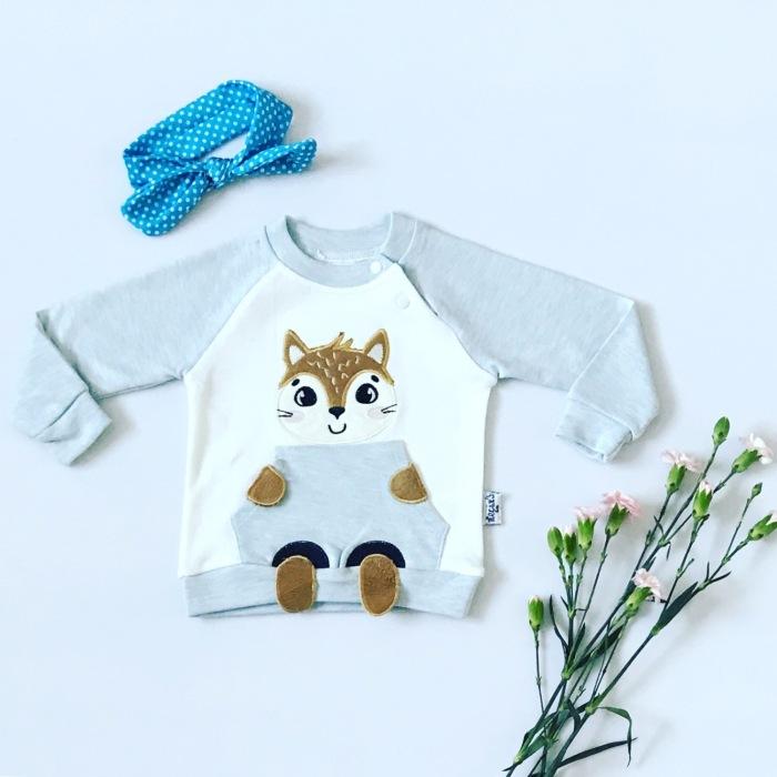 Bluza lisek dla dziewczynki 56-92 cm