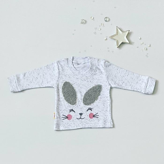 Bluzka love rabbit z długim rękawem dla dziewczynki 56-92 cm