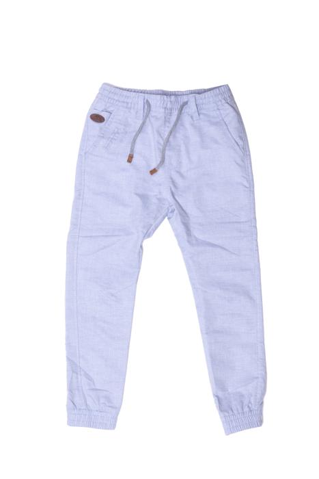 Błękitne materiałowe spodnie