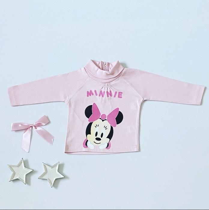Bluzka pink minnie z długim rękawem dla dziewczynki 56-92 cm