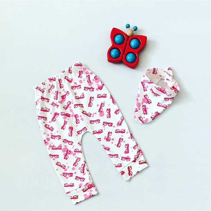 Spodnie pinki + apaszka
