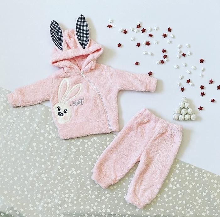Komplet polar pink dla dziewczynki 56-92 cm