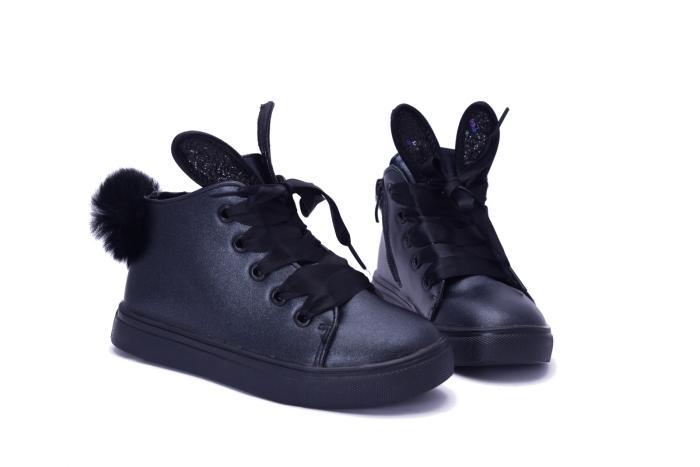 Czarne buciki króliczki