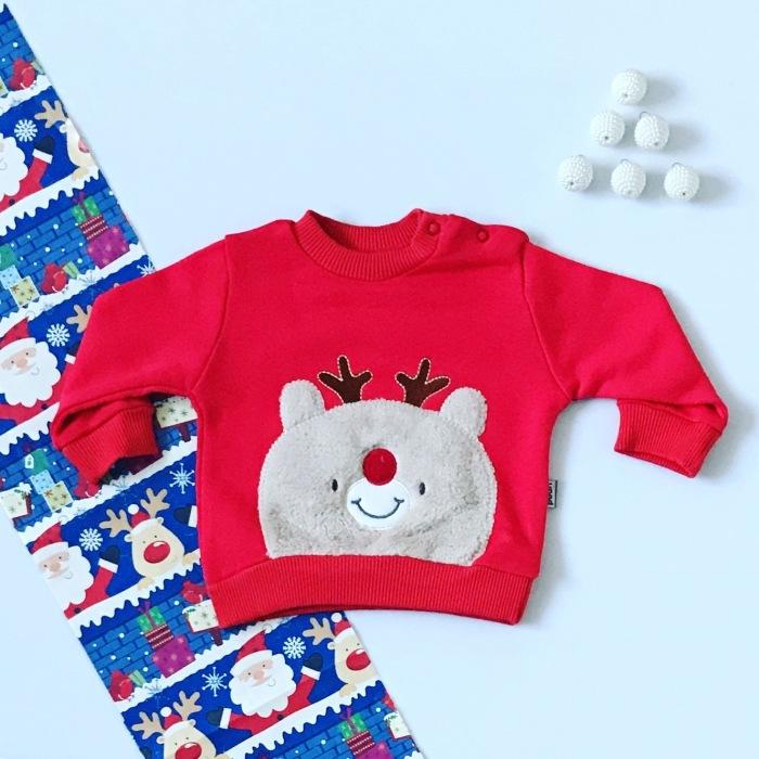 Bluza renifer dla dziewczynki 56-92 cm
