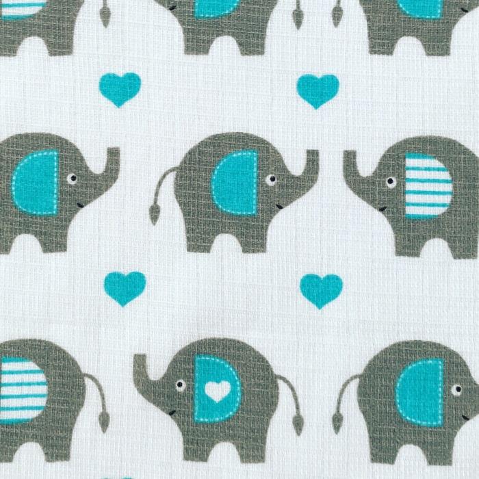 Pieluszka tetra - słoniki