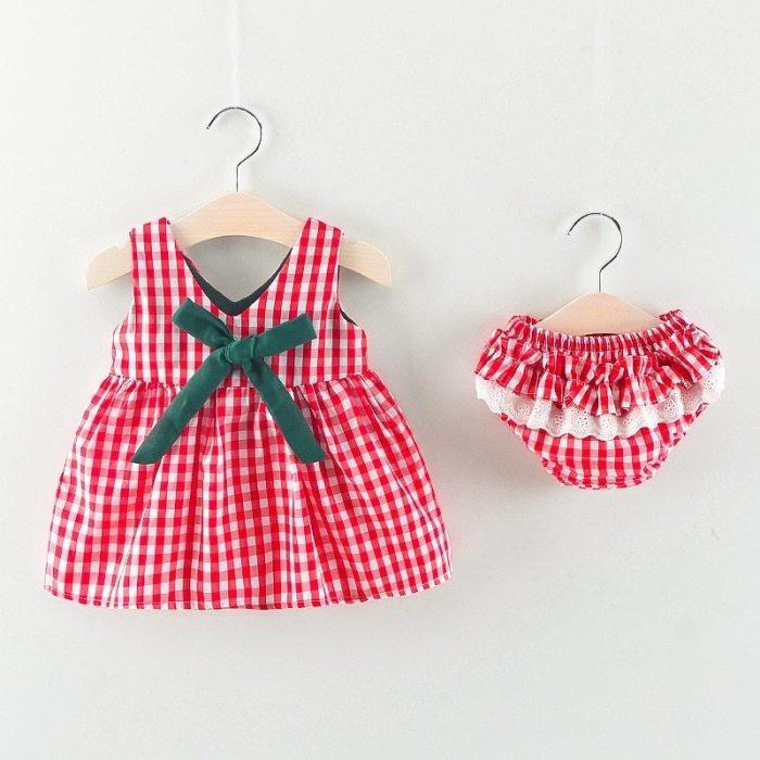 Sukienka czerwona krata