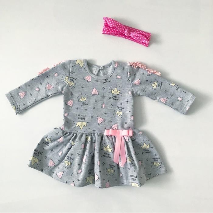"Szara sukienka ""Little Princess"""
