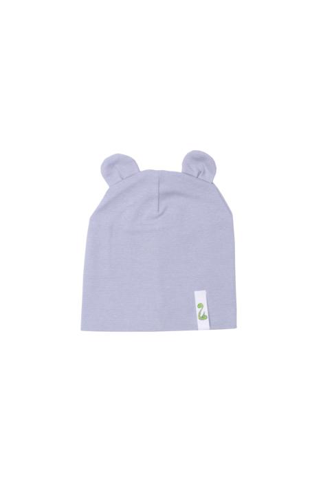 Szara czapka z uszami