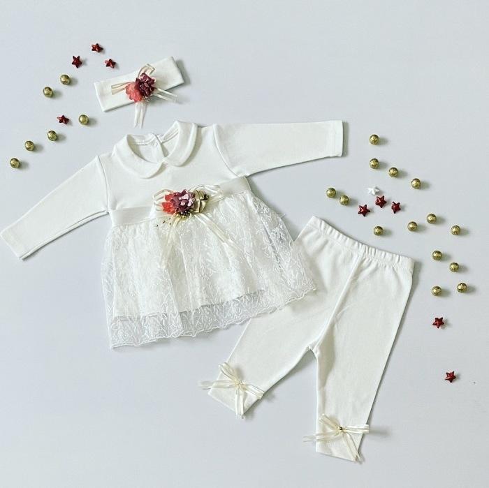 Komplet white dla dziewczynki 56-92 cm
