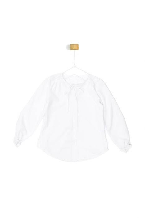 Biała koszula - stokrotka