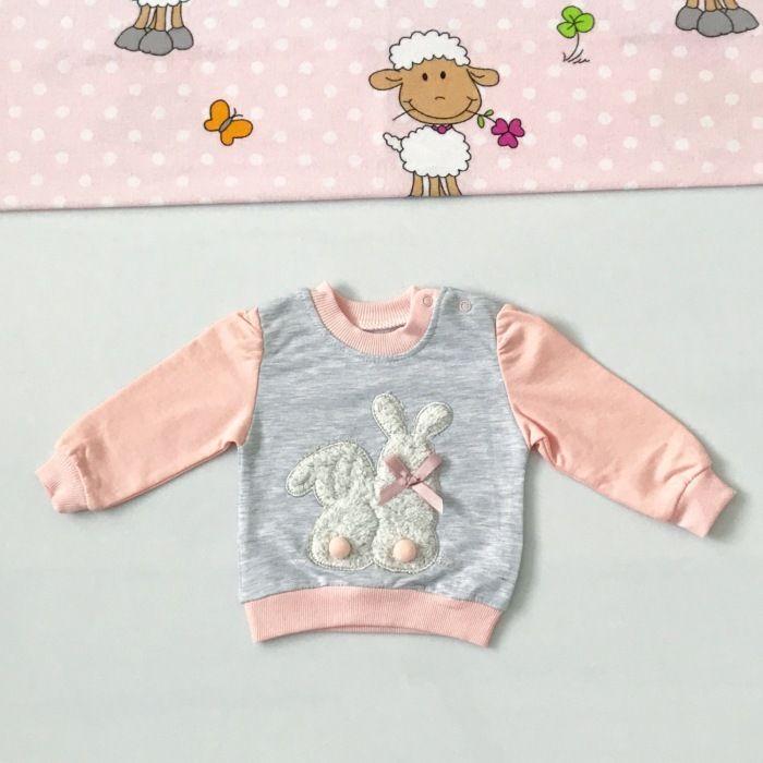 Bluza króliczki dla dziewczynki 56-92 cm