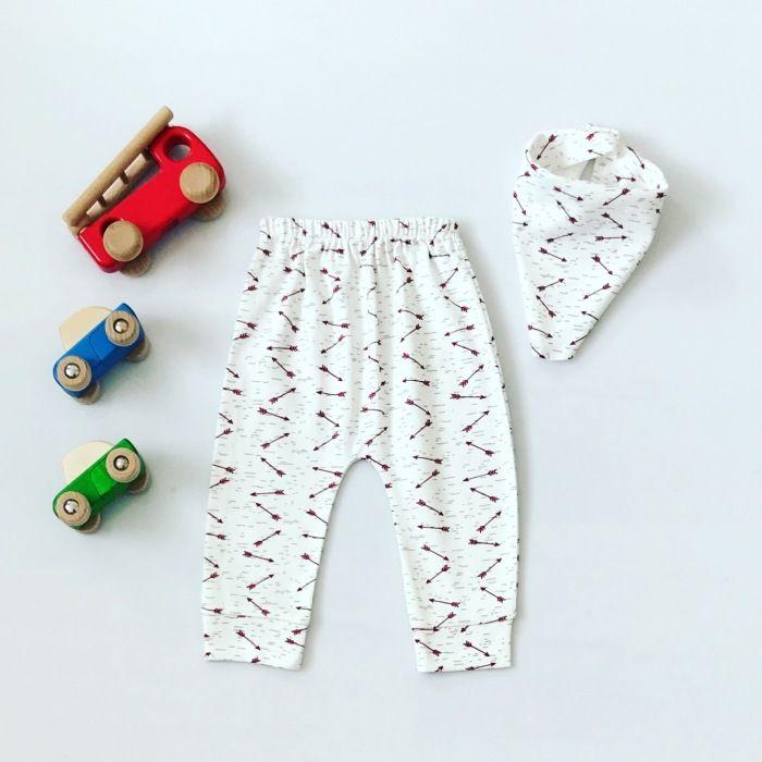Spodnie brave + apaszka dla chłopczyka 56-92 cm