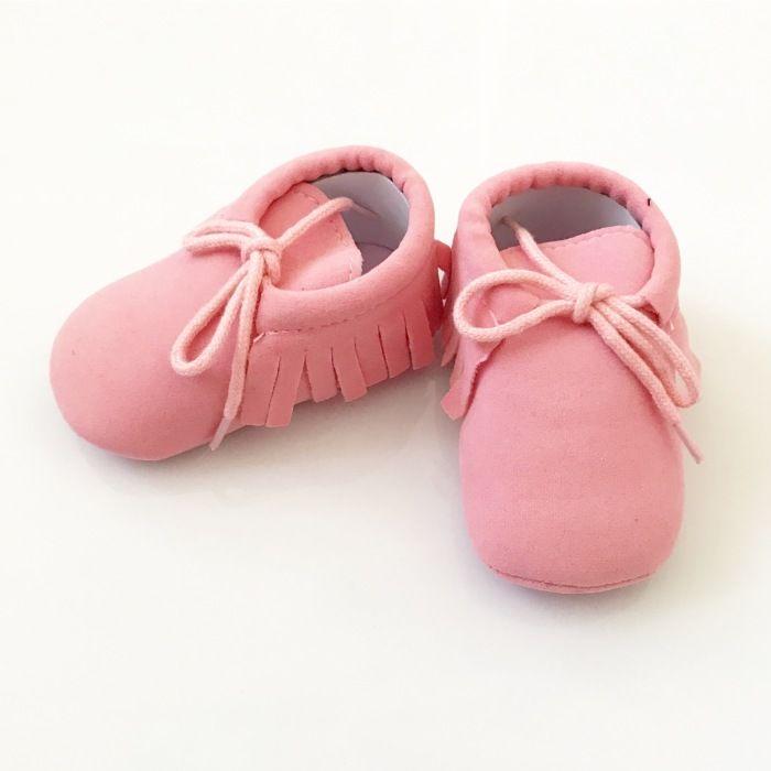 Buciki niemowlęce różowe dla dziewczynki