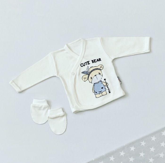 Bluzeczka z długim rękawem - cute bear + niedrabki