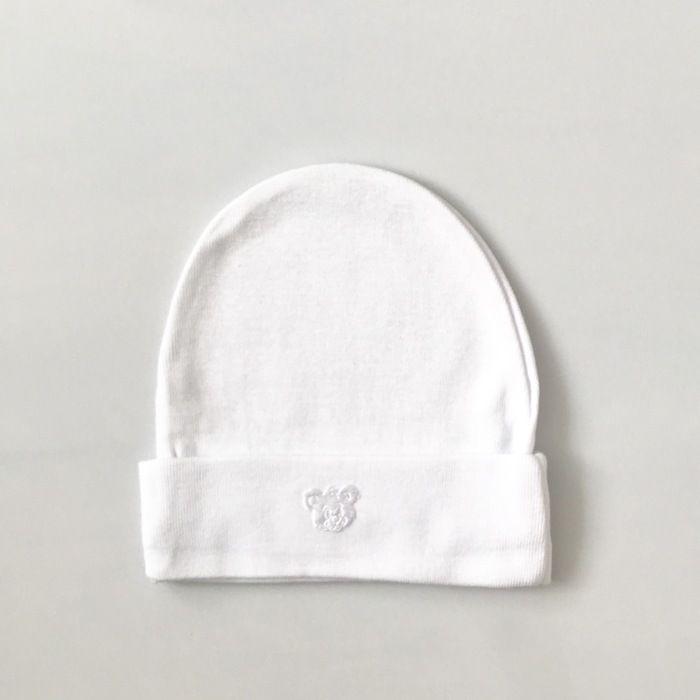 Biała czapeczka miś