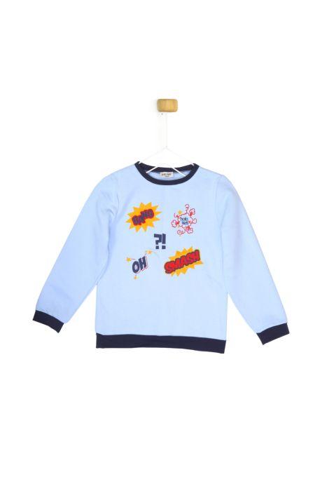 Błękitna bluza BANG dla chłopczyka 56-92 cm