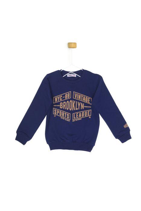 Granatowa bluza BLOOKLYN dla chłopczyka 56-92 cm