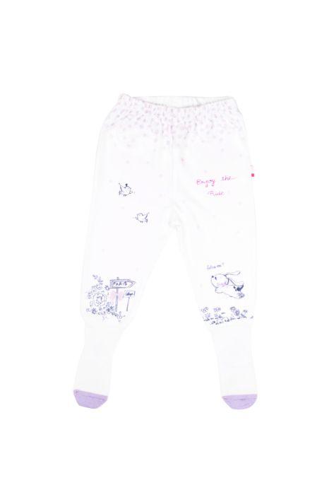 Półśpiochy biało fioletowe dla dziewczynki 56-92 cm