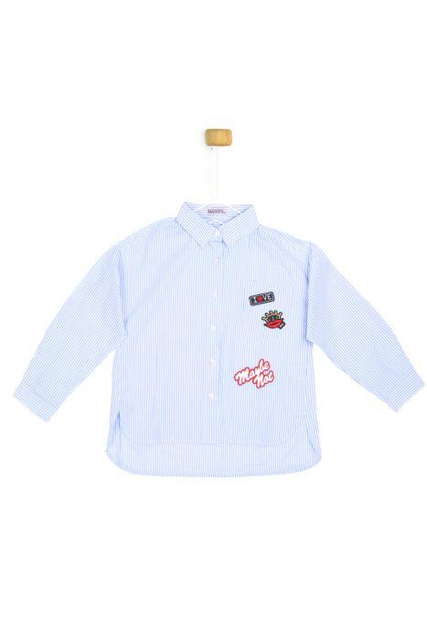 Koszula w biało niebieskie paseczki