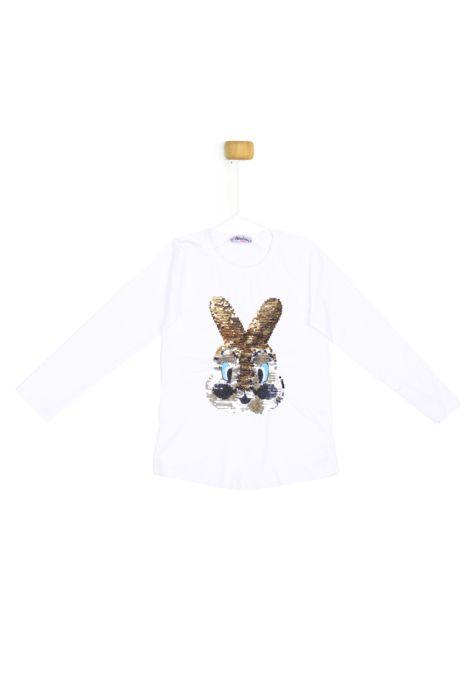Bluzeczka z długim rękawkiem - króliczek