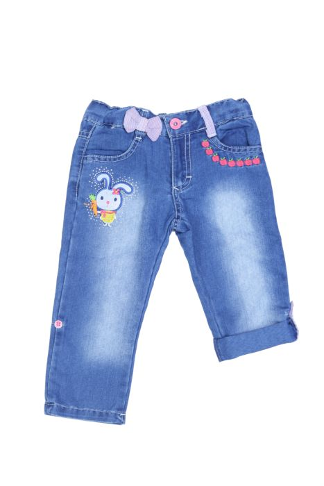 Jeansy z króliczkiem dla dziewczynki 56-92 cm