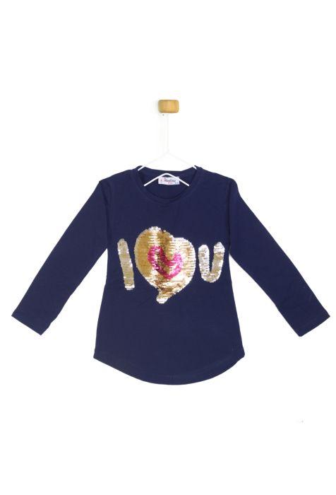Granatowa bluzeczka z długim rękawkiem