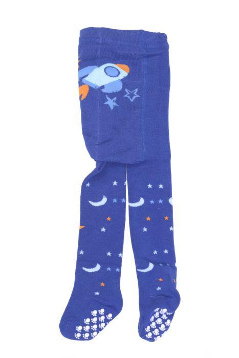 Niebieskie rajstopy w gwiazdki